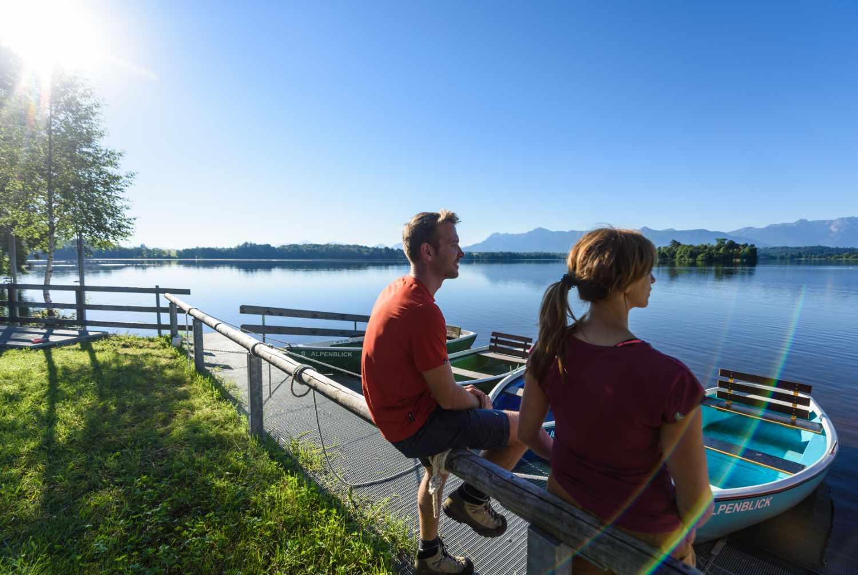Blick über den idyllisch gelegenen Staffelsee.